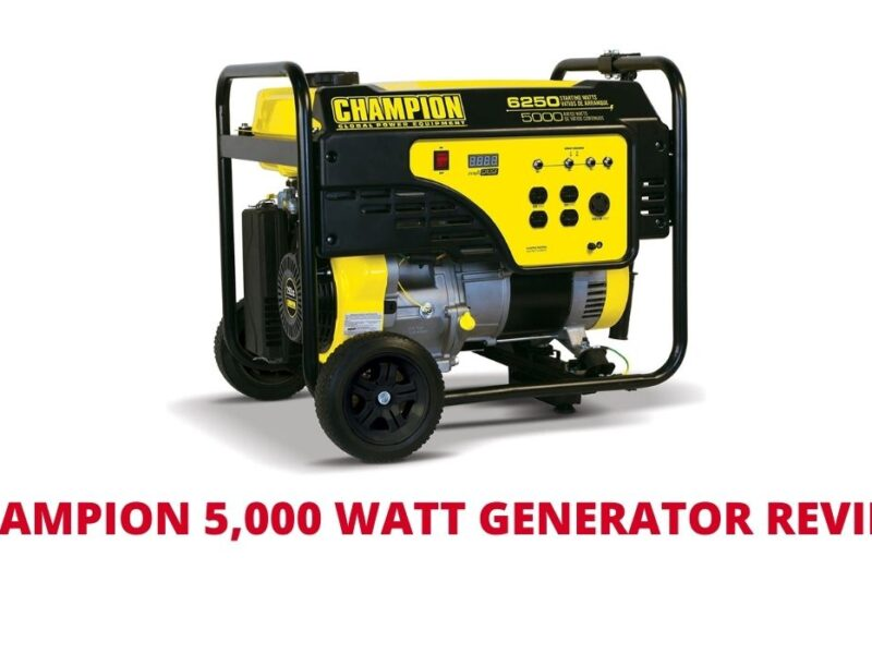 Champion 5,000 Watt Generator Review