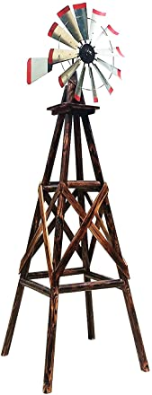 Charlog A Product of Leigh Country TX93485 Rustic 9 Feet Wooden Garden Windmill