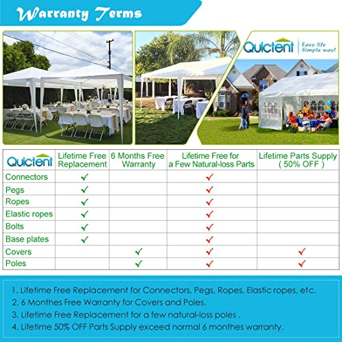 Quictent 10′ x 20′ Outdoor Gazebo Canopy Wedding Party Tent