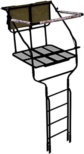 Millennium Treestands L220 18 ft. Double Ladder Stand with Folding Seats (Includes SafeLink Safety Line)