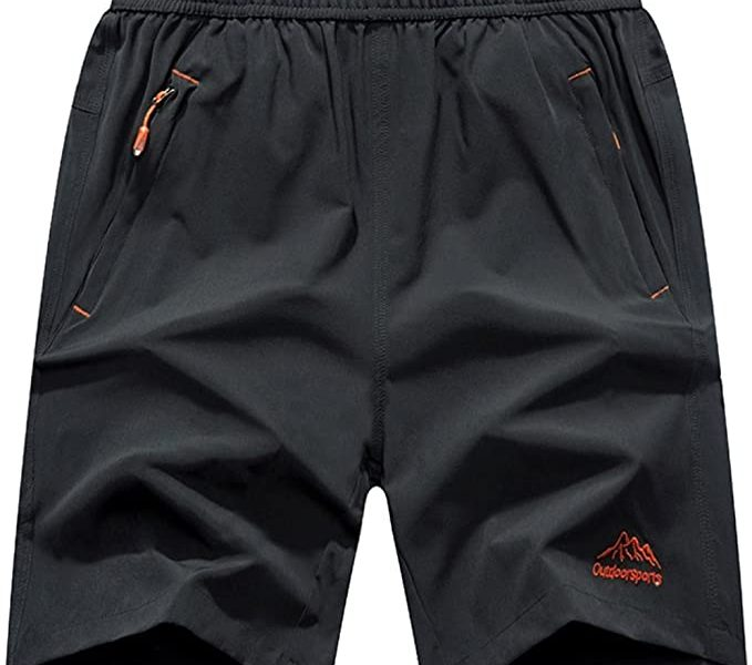 JINSHI Outdoor Travel and Sports Shorts with Zipper Pockets