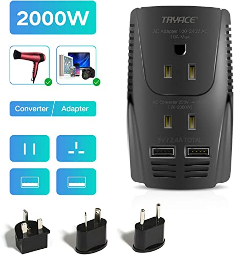 TRYACE 2000W Step Down Travel Voltage Converter