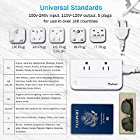 Baban Travel Converter with USB Charging and Worldwide Plug Adapter