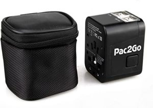 Pac2Go Universal Travel Adapter and Converter with 4 x USB Charger