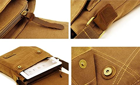 Sechunk Canvas Crossbody Bag for Men and Women