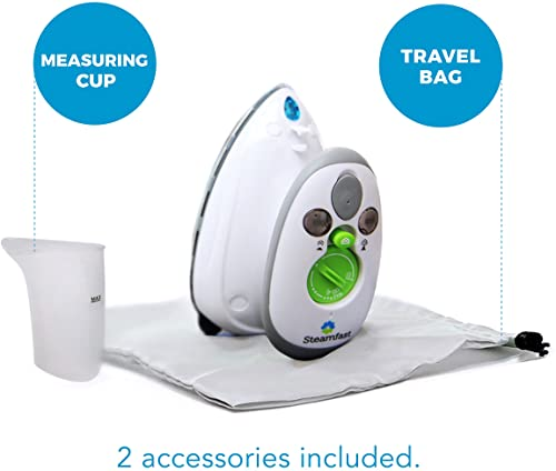 Steamfast Dual Voltage Mini Steam Iron with Travel Bag