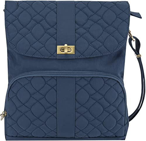 Travelon One Size Anti-Theft Signature Quilted Messenger Travel Bag for Ladies