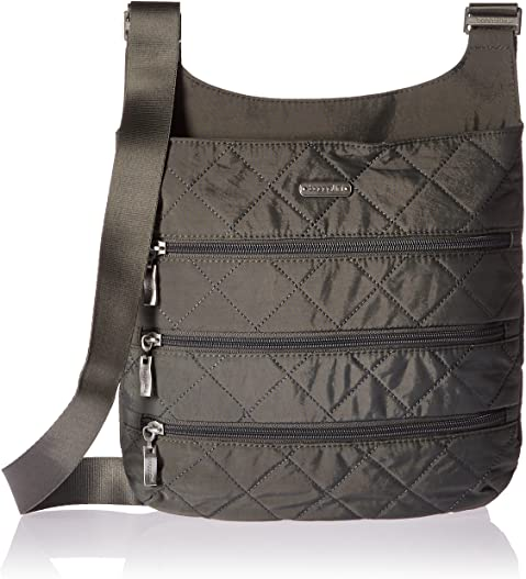 Baggallini Quilted Zipper Crossbody Bag with RFID Blocking Technology